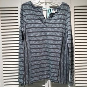 Anthropologie Long Sleeve Top Size Large